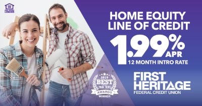 12 month intro rate for HELOC loans with FHFCU